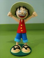 Luffy Foam Rubber FIgure by anapeig