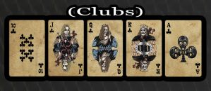 Haunted Cards - Clubs by DickStarr