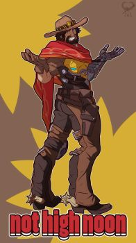 Not High Noon + Jesse McCree Overwatch + by leomon32