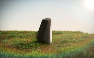 The Lonely Rock in the meadow by Cordt-Callum