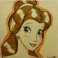 Post It Belle  by Anime-Ray