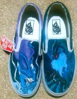 Suicune and Articuno Shoes by Brokenfeather-san