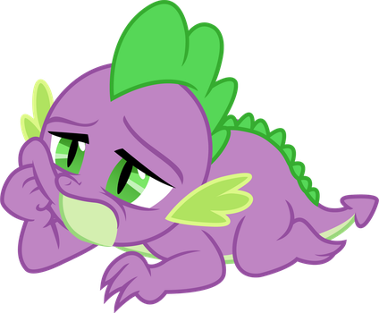 Spike (laying down vector) by davidsfire