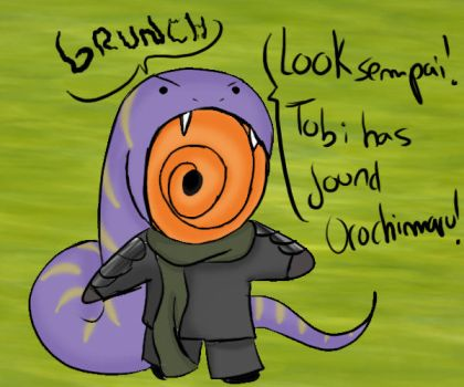 Tobi has found Orochimaru by Taniuskey-chan