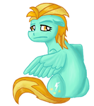 Lightning Dust is a winged horse by TheNoTalentLoser