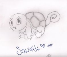 My darling Squirtle. by Meli-Chan12345
