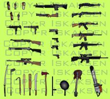 Left 4 Dead 2 weapons by Iskaksen