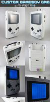 Custom gameboy white stripes by Thretris