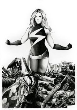 Ms Marvel VS The Brood (for sale) by dimitriskoskinas