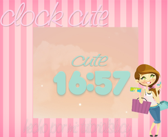 skin rainmeter clock cute by tutorialslucy