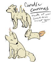 Candle Canines by SquidPup