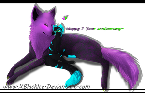 1 Year anniversary by XBlackIce