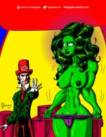 She Hulk mind controled by Ring Master by thegagster