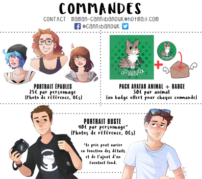 Commishes / commissions by Cannibanouk