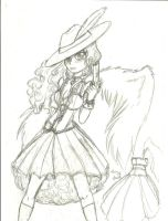 Rough Sketch Strong World Fuu's Design by UchaNekome