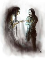 Melkor and Feanor by Pajalie