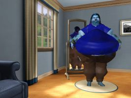 Sims 3 Sully from Monsters Inc as a human by Beast72