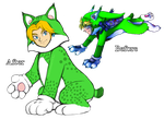 Super Bell: Cat Suit (Oot Link: Before and After) by SiscoCentral1915