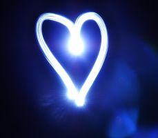 Blue Heart with light by aydnahmet