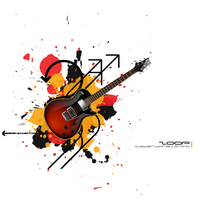evoke of a guitar by EvokeArt