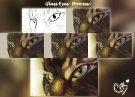 Process~ Glass Eyes by ChellytheBean
