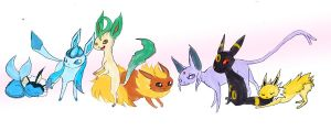 Eeveelutions by Chardarble