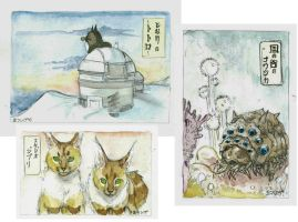 Ghibli watercolors by PokeShoppe