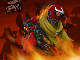the Death of Protoman by ManNamedDrawing