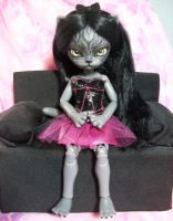Hujoo Freya BJD Custom Full Set Anthro Cat 2 by AdeCiroDesigns