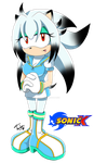 :Sonic X style - Tamber the Hedgehog: by tamber-mizuky