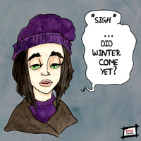 Mary Drummond Winter is coming. by Rather-Drawn