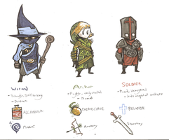 RPG characters by Fault-Classic