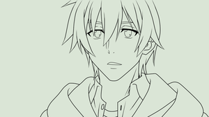 Kojou from Strike The Blood ~ Lineart ~ by KimiiChii