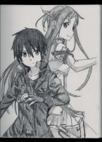 Kirito and Asuna by LileoDark