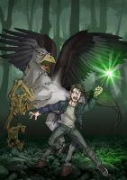 Harry Potter and Buckbeak by Leandroton