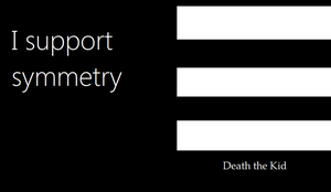 Death the Kid-I support symmetry by Macsassin