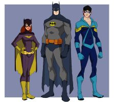 Bronze Age Batman Family by jasonh537