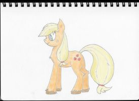 Body Study - Digital Colour - Applejack by Cloudyskieswrites