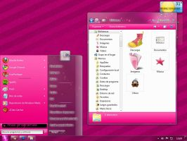 Tema Pink Rosa Para Windows 7 by viiveunaa1viida