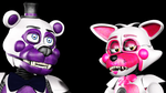 Funtime Freddy And Funtime Foxy (SFM FNAF) by TheSitciXD