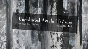 Unrestricted Acrylic Textures by emothic-stock