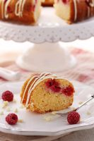 Slice of bundt cake by kupenska