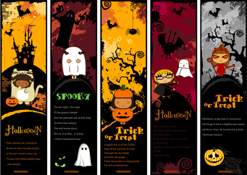 Pigtails Halloween Bookmarks by jazgirl