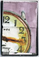 watercolor watch . scan by serealis