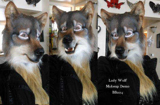 Lady Wolf Makeup Demo by Magpieb0nes