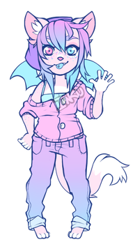 Cotton Candy cat adopt - [closed] by peaceouttopizza23