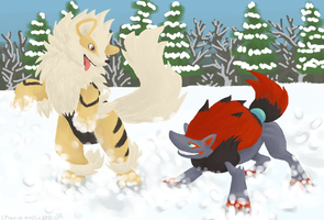 A and Z: Snow Dogs by Chari-Artist