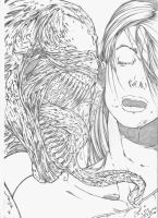 Venon and Mary Jane by jefterleite