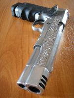 Engraved 1911 pistol by Myyni