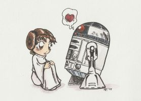 R2 Luffs Leia by tractorman-chan